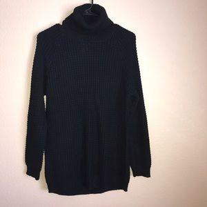 NWOT Long Black Turtle Neck Sweater